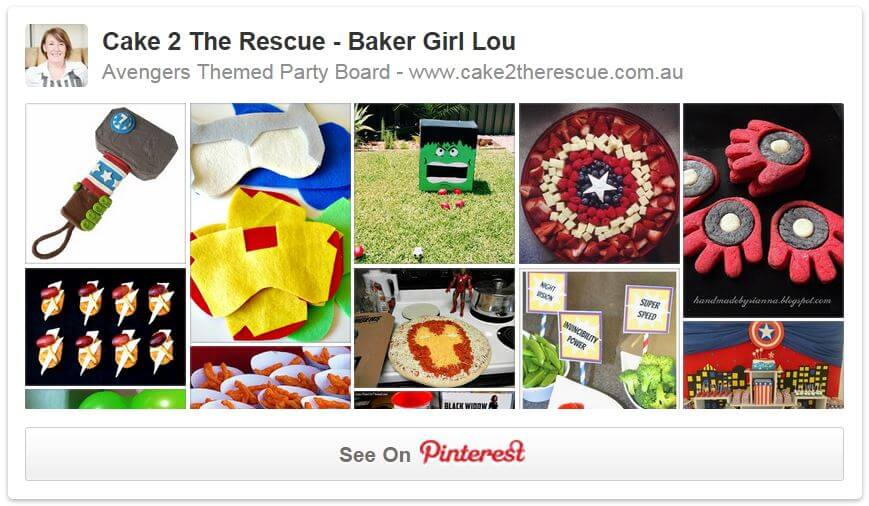 AVENGERS PINTEREST PAGE